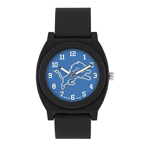 (NFL Detroit Lions Mens Fan Series Wrist Watch, Black, One Size)