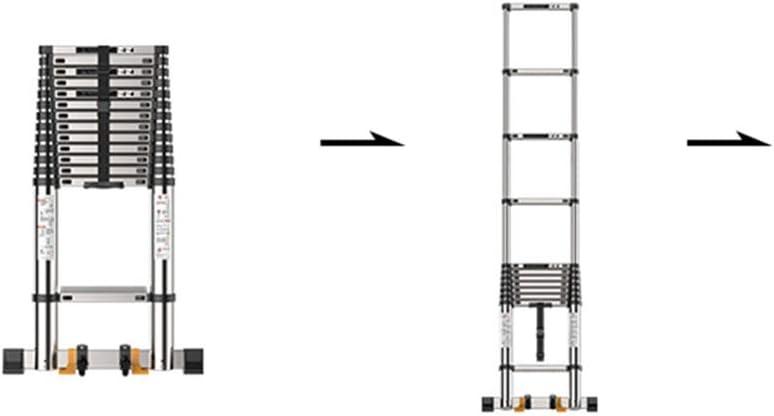 Escalera telescópica de Escalera Extensible, Escalera de desnivel, Escalera de desván para ingeniería de Edificios, 6 tamaños: Amazon.es: Hogar