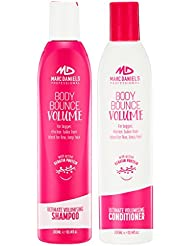 Volumizing Shampoo & Conditioner Set - Sulfate Free with Keratin Protein for Thicker, Fuller Hair - Repairs & Hydrates All Hair Types including Color Treated Hair MARC DANIELS Professional