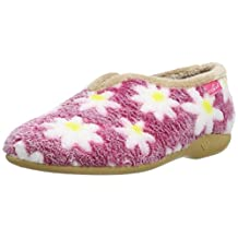 Lunar KLA021 Daisy Slipper In Pink Or Blue With Floral Print 5,6,7,8,9,10