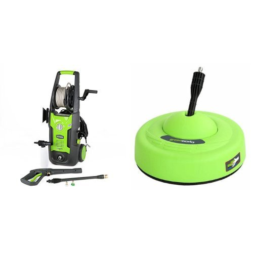 GreenWorks 1700 PSI 1.2 GPM Pressure Washer + Surface Cleaner