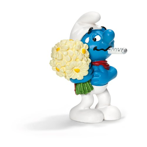 Schleich Get Well Soon Smurf Toy Figure