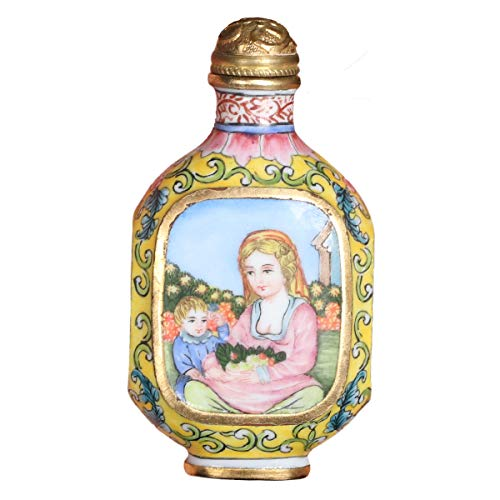 Royal gift of Snuff Bottle Enamel Figure Antiques to Collect for Friends A Birthday Present Send Love (Best Antiques To Collect)