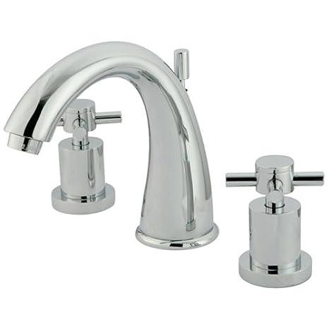 7-Inch Spout Reach Kingston Brass KS2965DX Concord Widespread Lavatory Faucet Oil Rubbed Bronze