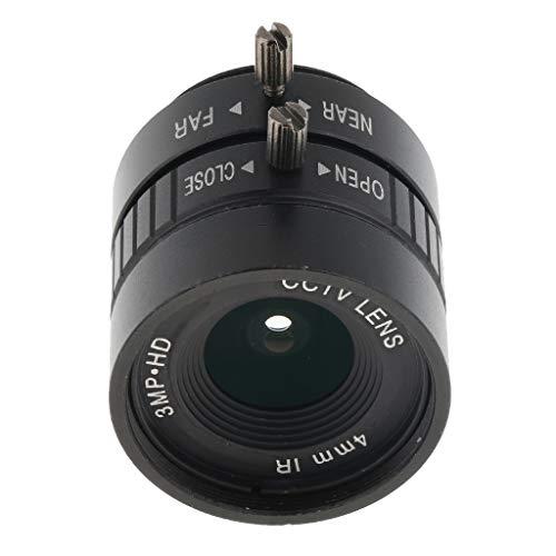 gazechimp 1/2' 4mm F1.2 CS Mount IR Fixed Iris CCTV Lens for Security CCD IP Cameras 0.5' Ccd Color Camera