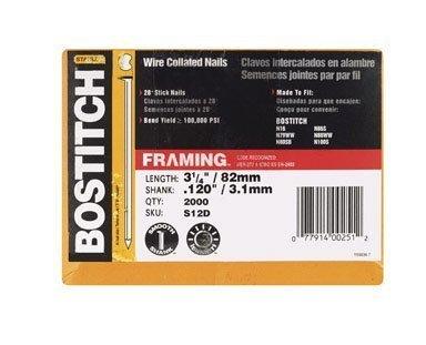 Stanley-Bostitch S12D-FH 28 Degree 3-1/4-Inch by .120-Inc...