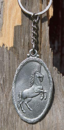 (Hastings Pewter Company Lead Free Pewter Unicorn Keychain Made in Michigan key chain)
