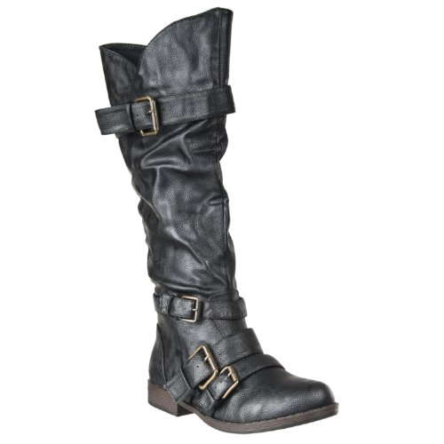 Fasnion Black Montage Strappy Boot Womens Bamboo qvtwXw