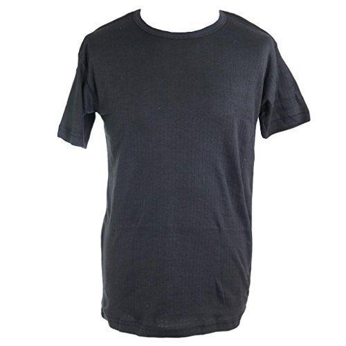 Camiseta interior térmica para hombre, con capa interior Negro ...