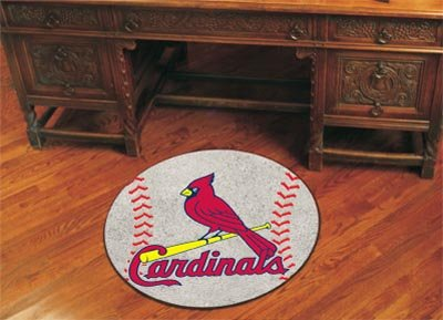 Mlb Louis Carpet Cardinals (Fanmats St. Louis Cardinals Baseball Mat - St. Louis Cardinals One Size)