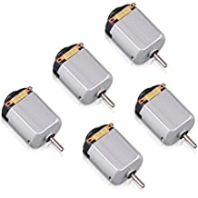 Flormoon DC Motor - 5pcs 0.5-6V 15000 RPM Mini Electric Motor - High Torque Magnetic Powered Motor - DIY,Robot,Science Experiments