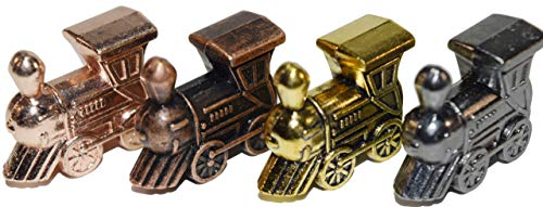 (Regal Games Mexican Train Domino Metal Marker Trains (4 Piece Train Set with Unique Finishes))