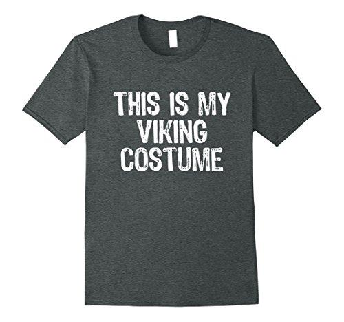 Mens This Is My Viking Costume Halloween T-Shirt Large Dark Heather