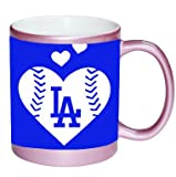 Go Dodgers We Love LA PINK 11 ounce Ceramic Coffee Mug Tea Cup by Debbie's Designs