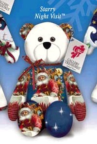 Bear Christmas Starry Night Visit/™
