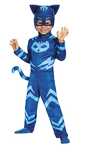Boy's PJ Masks Classic Catboy Outfit Toddler Child Halloween Costume, Toddler M (3-4T) -