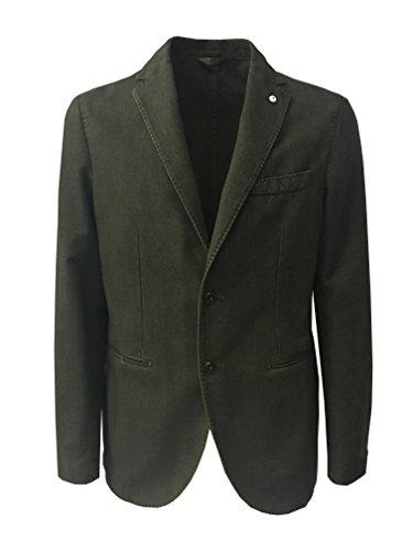 Vestibilità Spinato Verde Cotone Sfoderata Invernale m Slim 100 L Uomo Giacca 1911 b XPARwqp