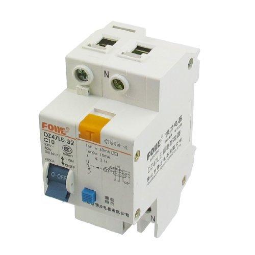 DealMux AC 230V 10A単極過負荷保護漏電ブレーカ1P + N B073W46RFX