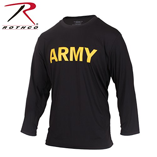 - Rothco Long Sleeve Army PT Shirt, Large