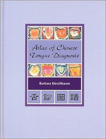 Atlas of Chinese Tongue Diagnosis, Vol. 1, Kirschbaum, Barbara