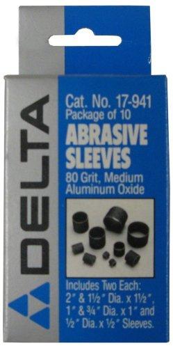 Delta 17-941 80 Grit Abrasive Sleeves for 17-940 Sanding Drum - Sanding Abrasive Drums