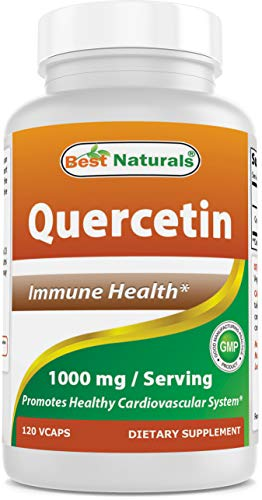 Best Naturals Quercetin 1000 mg/Serving Veggie Capsules – Immune Health – 120 Count