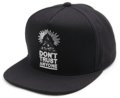 (sujii ILLUMINATI Triangle Hip Hop Boys Snapback Hat Trucker Baseball Cap/Black )