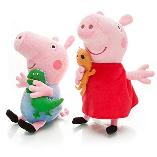 Peppa Pig Large Plush Baby Toys 2pcs Size 13.5 12.5 Toys for Babies (Baby Toys 2pcs)