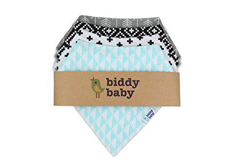 Biddy Baby Drooling and Teething Bandana Bibs 4 Pack Gift Set for Boys