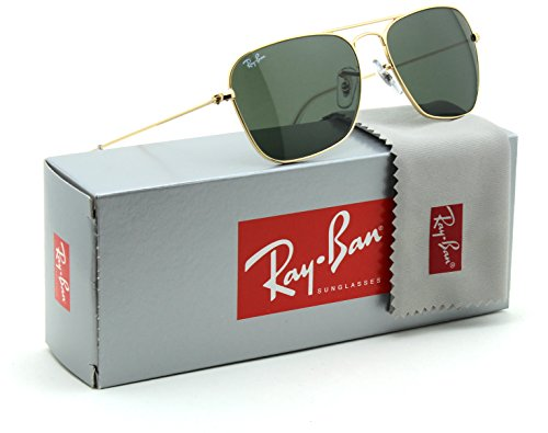 Ray-Ban RB3136 Caravan Unisex Sunglasses Green Classic 001 - - Ban 55 Caravan Ray