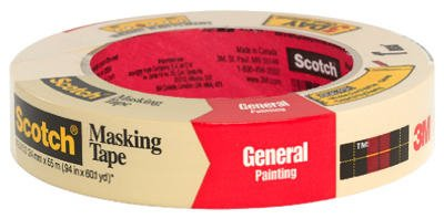 3M 2050-24A 1'' Scotch® Painters' Masking Tape For Trim Work by Scotch