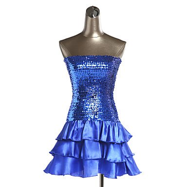Lentejuelas Ropa Poliéster Rojo de Noche Fucsia Negro Ropa Organdí Oro Dancewear Vestidos Noche Azul Plata de FUCHSIA Paramujer Morado Blue Yp8nqTOxw