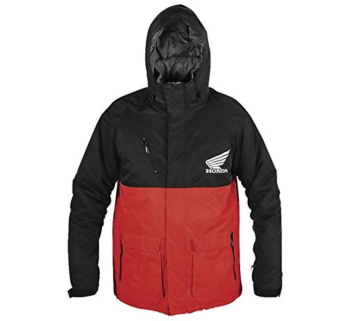 Mens Honda Team Jacket - Factory Effex Honda Team Parka Jacket (X-LARGE) (BLACK/RED)