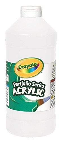 Crayola Portfolio Series Acrylic Paint, 16-oz. Flip Top Plastic Bottle, Titanium White, Pint
