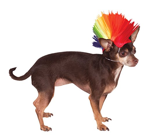 Rubie's Rainbow Mohawk Pet Wig, Medium/Large