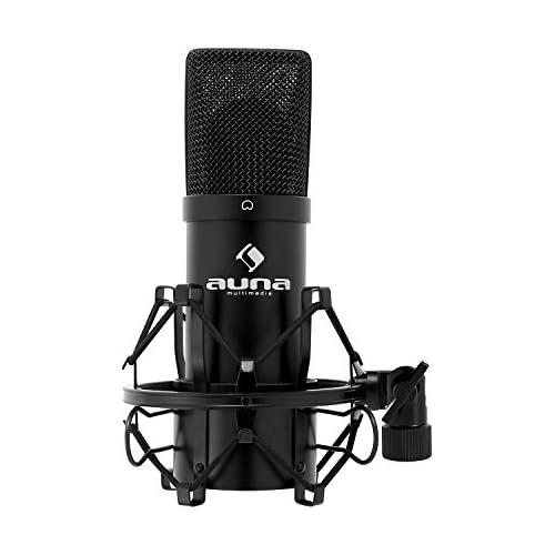 chollos oferta descuentos barato Auna HK Mic 900 B Micrófono para estudio de condensador conector USB color negro
