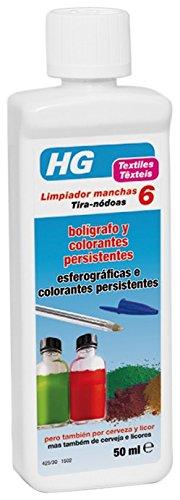 HG Limpiador Manchas Bolígrafo y Colorantes Persistentes - 50 ml