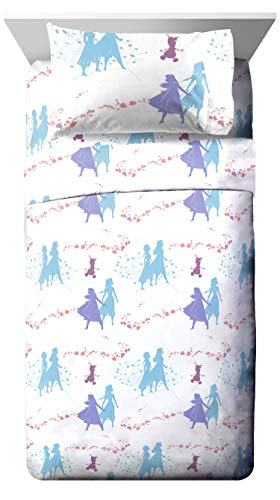 Jay Franco Disney Frozen 2 Sister Dots 3 Piece Twin Sheet Set (Frozen Bed Twin Set)