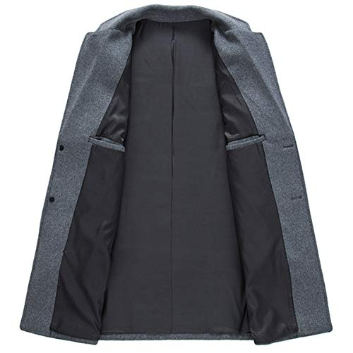 Homme En Gris Allthemen Hiver Parka Trench Coupe coat Laine Manteau Long Caban 5EY5wxqP