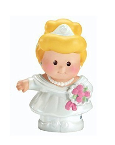 Fisher Price Little People Interactive Disney Princess Castle Palace Fairytale Replacement CINDERELLA With Wedding Dress Pink Base 2012