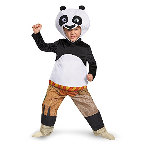 Disguise Panda-Po Deluxe Toddler Costume, Large (4-6) (Kung Fu Panda Halloween Costumes For Toddlers)