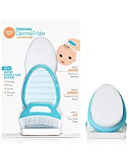 The 3-Step Cradle Cap System by Fridababy | DermaFrida The FlakeFixer | Sponge, Brush, Comb and Storage Stand for Babies with Cradle Cap