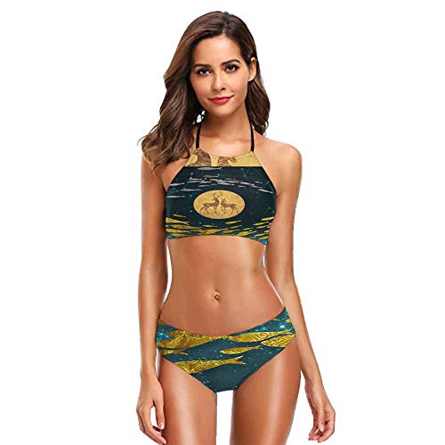 - Bandeau Golden Fish in The sea (10) S Summer Swimsuit
