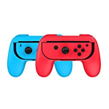 XCSOURCE 1 Pair of Joy-Con Controller Comfort Handheld Handle Grips Holder Red Blue for Nintendo Switch Console AC777
