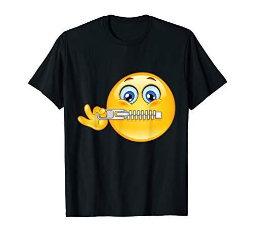 Zipper Face For Halloween (Funny Emoji of Zipper Face T-Shirt Emoticon Halloween)