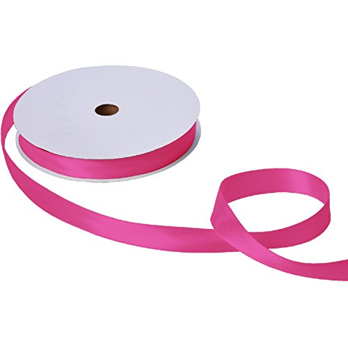 Jillson & Roberts Double-Faced Satin Ribbon, 1'' Wide x 100 Yards, Magenta by Jillson Roberts