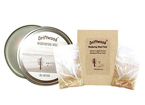 - Driftwood Bundle of 1 WEATHERING WOOD FINISH and 8 oz WEATHERING WAX