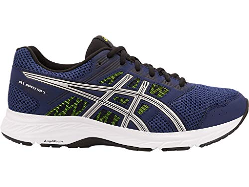 ASICS Men's Gel-Contend 5 Running Shoes, 13XW, Indigo Blue/Silver