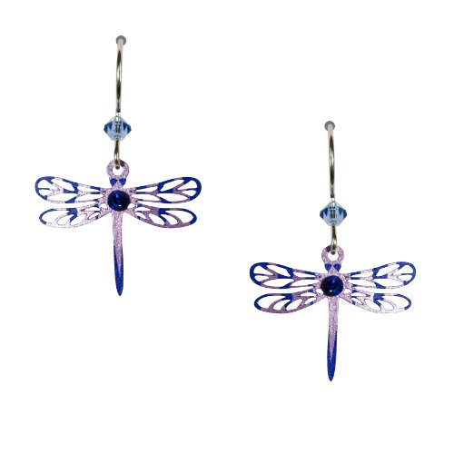 Earrings Dragonfly (Sienna Sky Purple Lavender Filigree Dragonfly Earrings 1540)