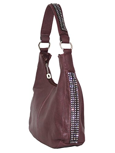 Concealed Gun Rhinestone Purse Purse Roma Carry Red Hobo Leathers 5xg1zyqwY